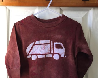 Garbage Truck Shirt, Kids Truck Shirt, Kids Garbage Truck Shirt, Boys Truck Shirt, Girls Truck Shirt, Brown Truck Shirt, Long Sleeves (2T)