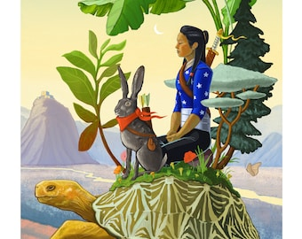 Vivi, the Hare, and the Tortoise Oasis