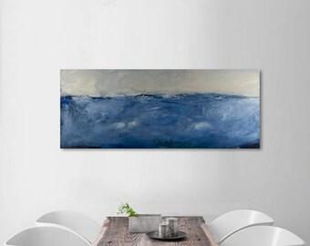 Landscape painting, canvas art, original art, abstract painting, modern painting, wall art, canvas art seascape art