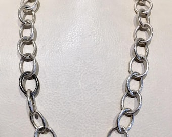 GURHAN Tri-Color Silver Hoopla Chain Necklace