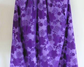 Purple Flower Skirt