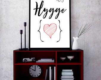 Danish Design, Hygge Wall Art, Danish Art, Danish Print, Hygge Print, Instant Download, Scandinavian Art, Home Wall Decor, Nordic Style, art
