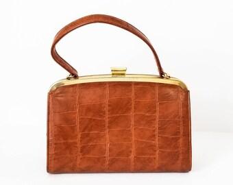 Vintage handbag - Vintage purse - Vintage top handle purse - Mad Men style handbag - Mad Men purse - 60s Top handle purse celluloid