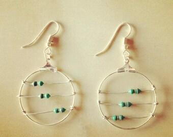 3 Green Inductors Earrings