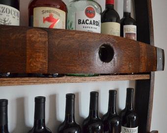 Wine Rack made from reclaimed wine barrel