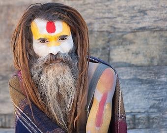 Sadhu, Pashupatinath, Kathmandu, Nepal, travel photography, portrait, fine art print, wall art
