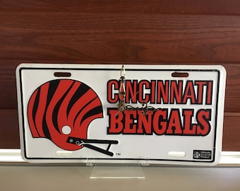 Cincinnati Bengals Vanity License Plate Clock