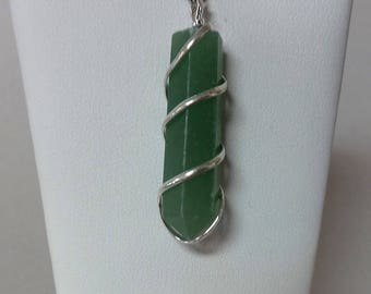 Cage Crystal Point Pendant