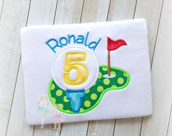 Golf birthday shirt - boys golf themed birthday shirt - golf ball shirt - personalized sports themed shirt - boys birthday shirt