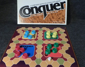 Conquer Board Game by Whitman 1979 - Vintage Strategy and Capture Play - Complete
