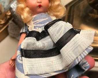 1940s Storybook Doll-Alice in Wonderland-bisque doll-mint condition