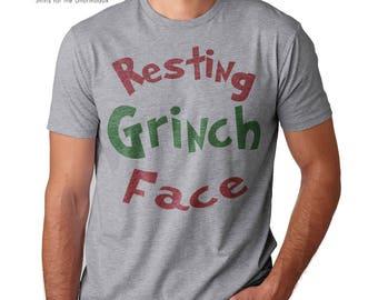 funny christmas shirt resting grinch face shirt scrooge mcduck grinch t shirt bah humbug shirt grinch t shirt scrooge christmas shirt