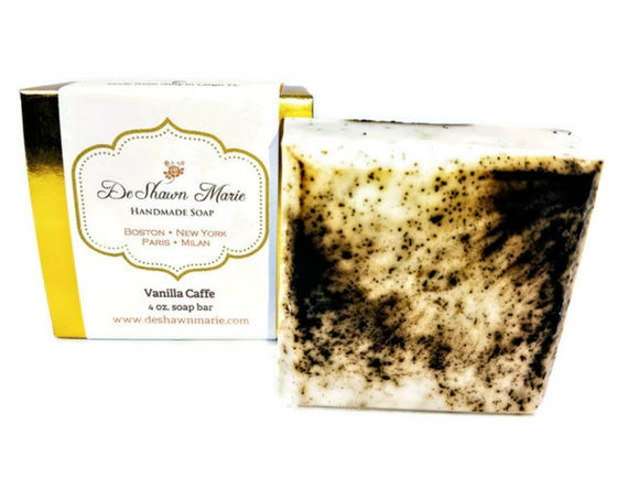 SOAP- Vanilla Caffe Soap, Vegan Soap, Coffee Soap, Vanilla Soap, Christmas Gift, Mother's Day Gift, Birthday Gift, Father's Day Gift, Favors