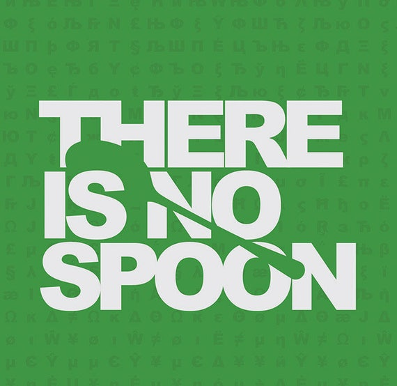there is no spoon matrix movie quote digital download art