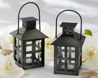 Black Centerpiece Lantern - Antique Vintage Theme Lantern Wedding Reception Table Decorations - MW30353