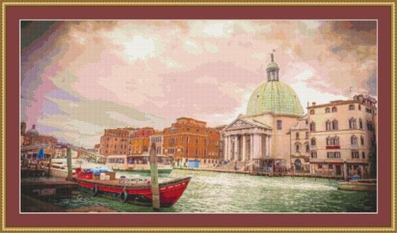 Church In Venice Cross Stitch Pattern /Digital PDF Files /Instant downloadable