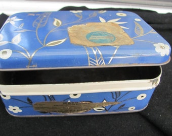 Vintage Blue Tin Made In Germany
