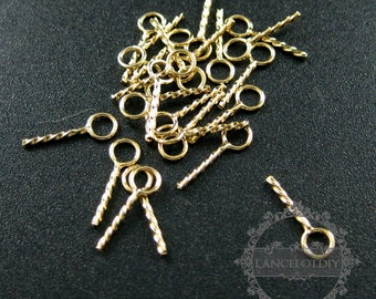 5pcs 6.5mm screw eye peg bail 14K gold filled high quality color not tarnished DIY pendant charm jewelry suppplies findings 1534012