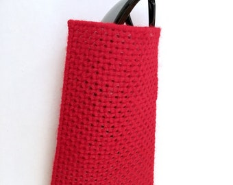 Eyeglass case, sunglasses case, red