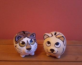 Mini Pet Portrait Piggy Bank