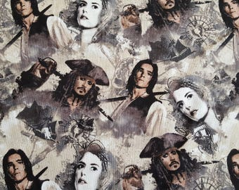 Pirates of the Caribbean Cotton Fabric Sold by the yard