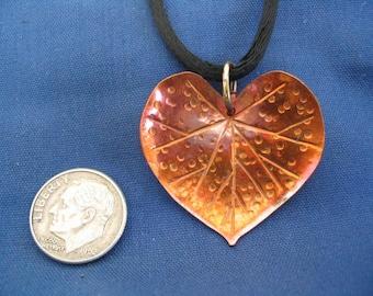 Red Bud Leaf  Pendant