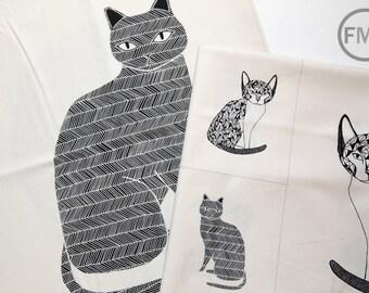 Catnip Natural Panels Bundle, 2 Panels, Gingiber, 100% Cotton, Moda Fabrics, 48230, 48231