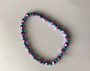 Purple and Blue Bracelet