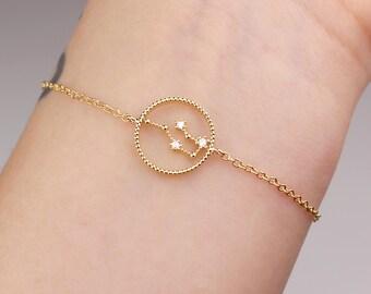 Aquarius bracelet, horoscope bracelet, zodiac jewelry, horoscope jewelry, constellation, Aquarius jewelry, constellation, birthday, gift