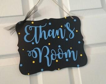 Custom name sign personalized door sign Wooden bedroom