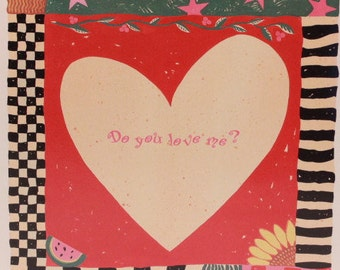 Larry Stephenson's America Greeting Card. One Card and Envelope. Love