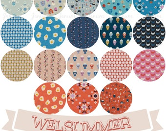 Fat quarter bundle of Welsummer by Kimberly Kight for Cotton and Steel fabrics- 18 pieces