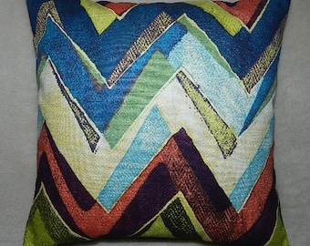 7 Sizes Available - Robert Allen Modern Chevron Pillow Cover 18 inches x 18 inches