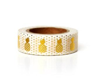 Washi Tape Pineapple Gold Foil