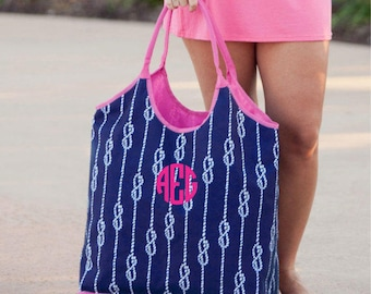 Navy High Tide Beach Bag
