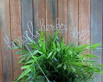 5 Garden Herb Markers, Plant Marker, Hostess Gift, Plant Stick, Garden Plant Decoration, Personalized Gift, Housewarming Party