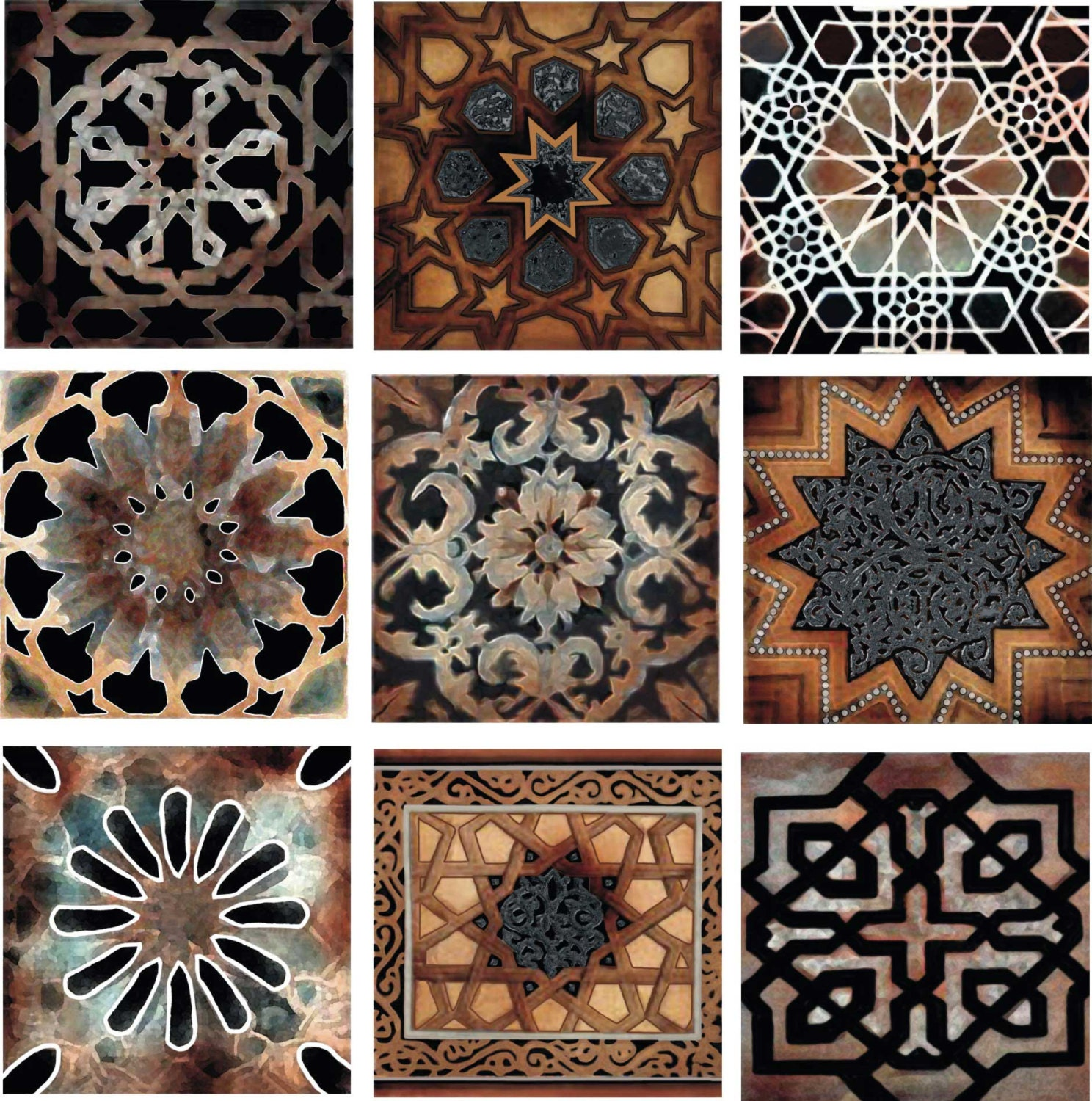 Old World Decorative Tile Set Backsplash Ceramic Artistic Tile