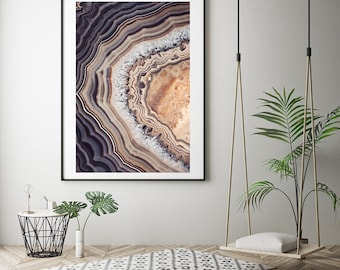 Mineral Photography - (Print #014) Fine Art Print - Two Paper Choices- Mineral Geode Agate Crystal Decor