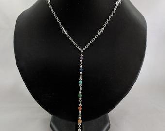 7 Chakra Sacred Spiral  Necklace