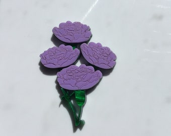 Mauve Carnation Brooch