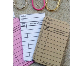 Kraft Mini Library Cards for Journaling & Planning - Planner, Notes, To Dos, Travelers Notebook, Journal, Memory Keeping, Tasks