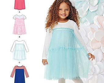 OUT of PRINT Simplicity Pattern 1209 Child's Knit Dresses
