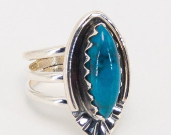 Pilot Mountain Turquoise and Sterling Silver Ring