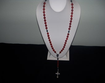 A Beautiful/Wearable Red Carnelian Rosary. (201805)