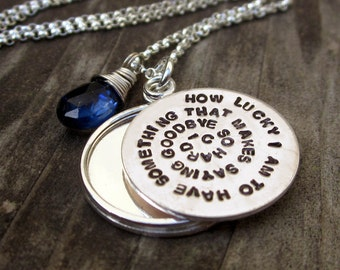 Hand Stamped Sterling Layered Locket for Zampese