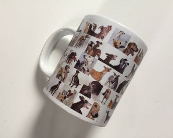 Collage GREYHOUNDS Mug
