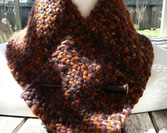 Versatile Neck Warmer- brown/copper/bronze/chocolate
