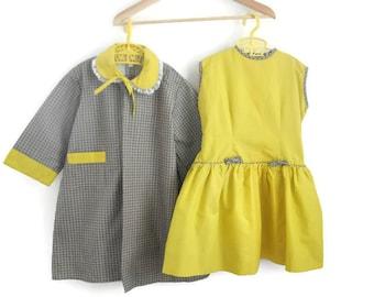 Girls Dress, Girls Coat, Girls Vintage Dress, Girls Dress, 1950s Girls Dress, Girls Party Dress, Girls Vintage Coat