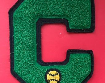 Vintage varsity letter patch C