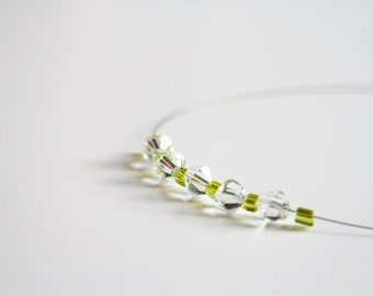 Greenery wedding, dainty necklace, Minimalist necklace, green necklace, layering necklace, minimalist jewelry, simple necklace lime necklace